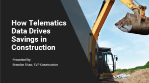 How Telematics Data Drives Savings in Construction